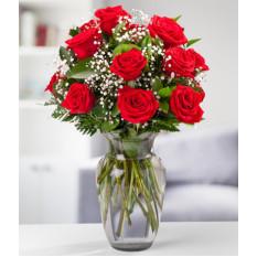 Docena de rosas rojas