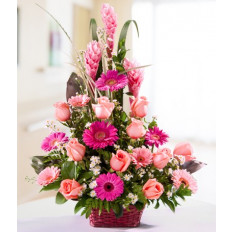 Cesta de flores mezcladas