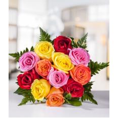Docena de rosas surtidas