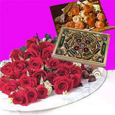 Rosas + Chocolates (12 Rosas + Chocolates)