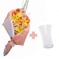 Color y Amor (6 Gerberas y 2 Liliesus)