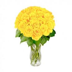 Magnífico amarillo (12 rosas)