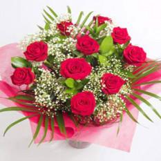 Rosas de regalo románticas (ramo de 12 rosas)