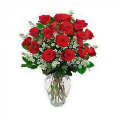 Arreglo de rosas premium (12 rosas)