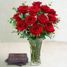 Belleza de Rosas (12 Rosas)