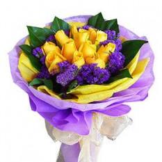 Ramo de rosas amarillas con relleno