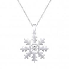 Colgante de moda de plata esterlina 0.05 Ct.Tw.Diamond