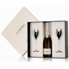 Louis Roederer Brut Premier Champagne Regalo en caja con 2 copas