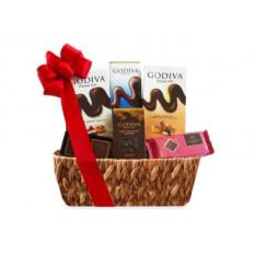 Canasta de regalo Godiva y bombones surtidos