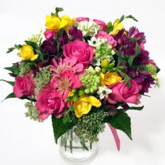 Glow of Happiness: colores rosa, violeta y amarillo (clásico)
