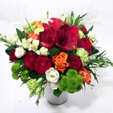 Día festivo - Hippeastrum, Rosas, Crisantemos, Claveles, Lisianthus (Clásico)