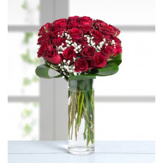 30 Red Roses - Mad About You (With Vase)