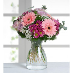 Gerberas and roses (With Vase)