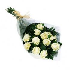 Una docena de ramo de rosas blancas - 1