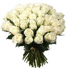 Tres docenas de ramo de rosas blancas
