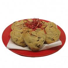 Placa de galletas de chocolate con chispas de corazón