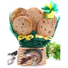 Cesta de pesca Cookie Bouquet (media docena)