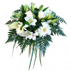 Ramo de flores blancas de lujo (grande)