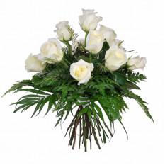 Ramo de 12 rosas blancas de pureza