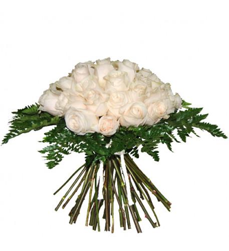 Ramo de rosas blancas (grande)