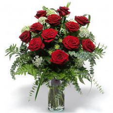 Ramo de rosas fúnebres (medio)