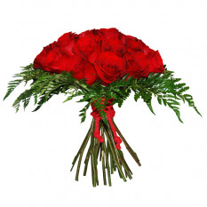 Ramo de rosas rojas (medio)