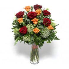 Ramo de rosas Pe iguales (Pequeño)