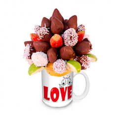 Arreglo frutal FCH035 de Fresas al chocolate de