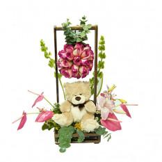 Arreglo floral para cumpleaños-9