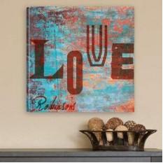 Estilo de impresión personalizada amor de la pintada de la lona
