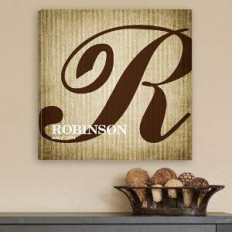 Personalizada impresión de la lona del monograma de la caligrafía