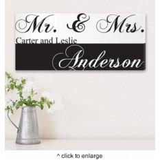 Sr. y señora personalizados Parejas lienzo de la lámina