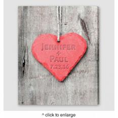 Personalizada muestra del corazón en relieve lienzo