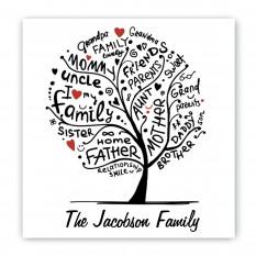 Signo de lona de raíces familiares