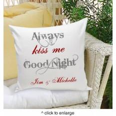 Siempre Kiss Me Goodnight Almohada decorativa