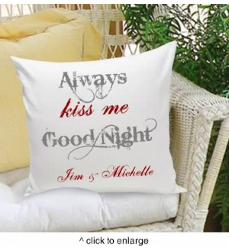 Siempre Kiss Me Goodnight Almohada decorativa