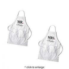 Conjunto de delantal blanco para parejas personalizado