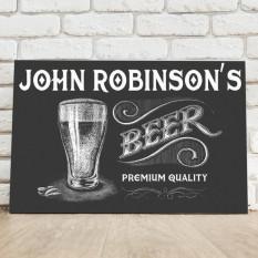 Personalizada premio de la muestra de cerveza lienzo