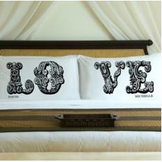 Conjuntos de casos la conexión del amor las parejas almohada personalizadas