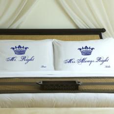 Parejas personalizados Conjuntos de caso real Corrección almohada