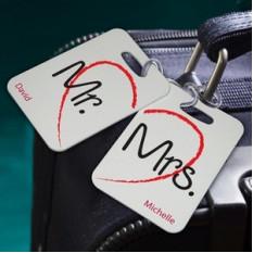 Parejas personalizadas Sojourn equipaje Etiquetas