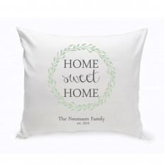 Almohada decorativa de hogar, hogar dulce - Corona verde