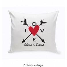 Cojín Flechas de amor personalizadas