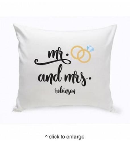 Cojín personalizado Sr. y Sra. Boda