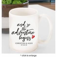Taza de café personalizada de aventura