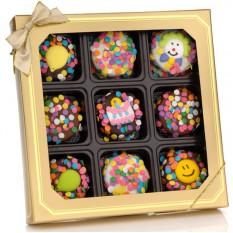 Cumpleaños Cobertura de chocolate galletas Oreo, Caja de 9