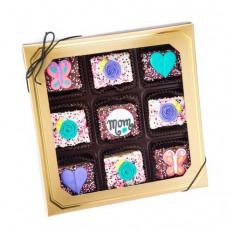 Día de la Madre de chocolate sumergido mini crujiente barras de arroz- Ventana caja de regalo de 9