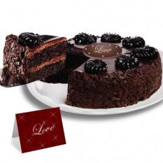 """Mousse de chocolate Torta pastel- """"San Valentín"""""""