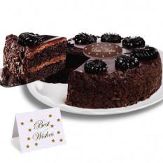 """Mousse de chocolate Torta Torta de """"mejores deseos"""""""