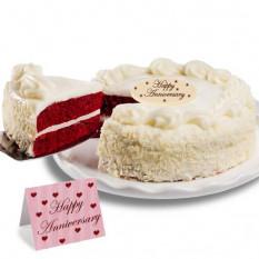 """Terciopelo rojo pastel de chocolate """"Aniversario"""""""